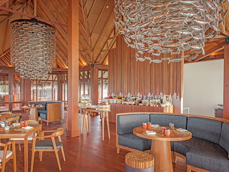Interior of Baani Restaurant at Heritance Aarah