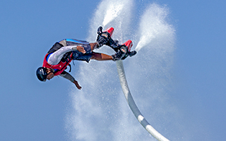 Flyboarding at Heritance Aarah Maldives