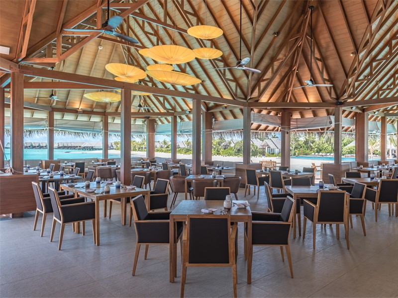 Interior of Ralu Restaurant at Heritance Aarah