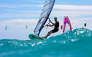 Windsurfing water activities in Maldives