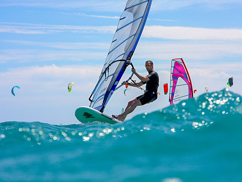 Windsurfing at Heritance Aarah Maldives