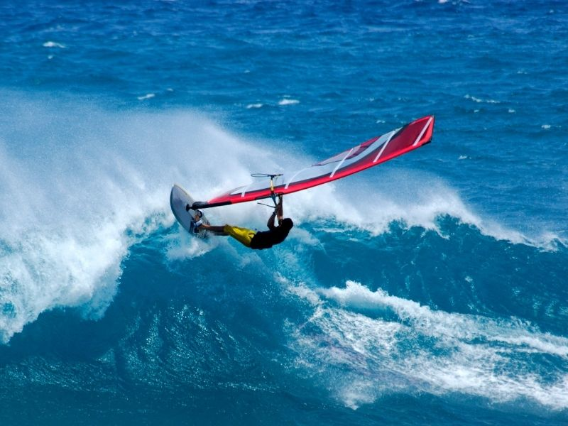 Wind Surfing at Aarah