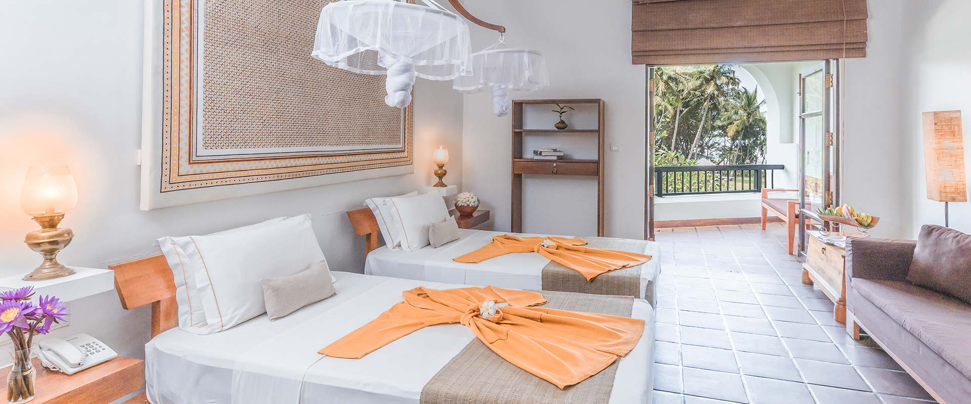 Interior of accommodation at Heritance Ayurveda