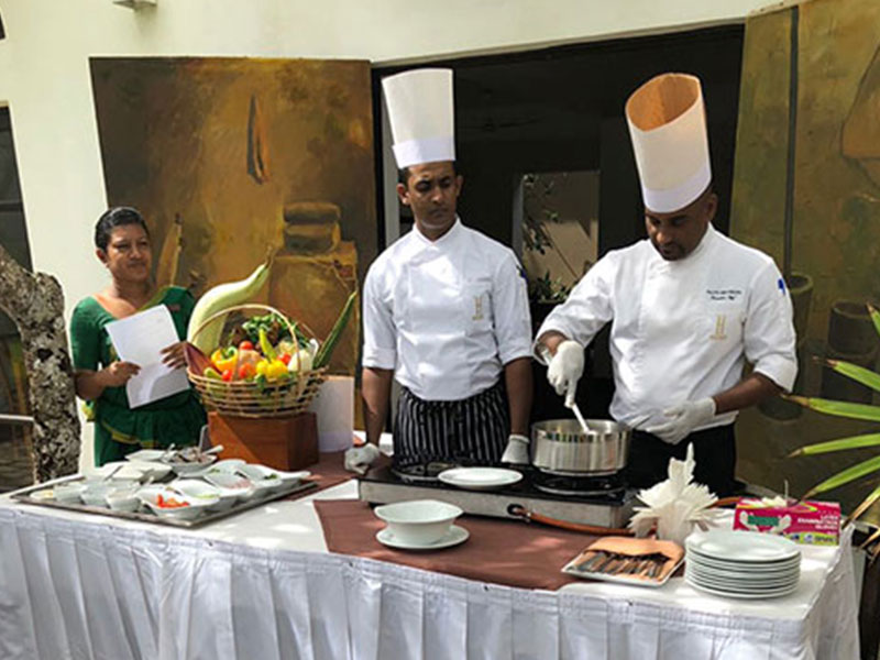 Japanese Cooking Class conducted by chefs in Heritance Ayurveda