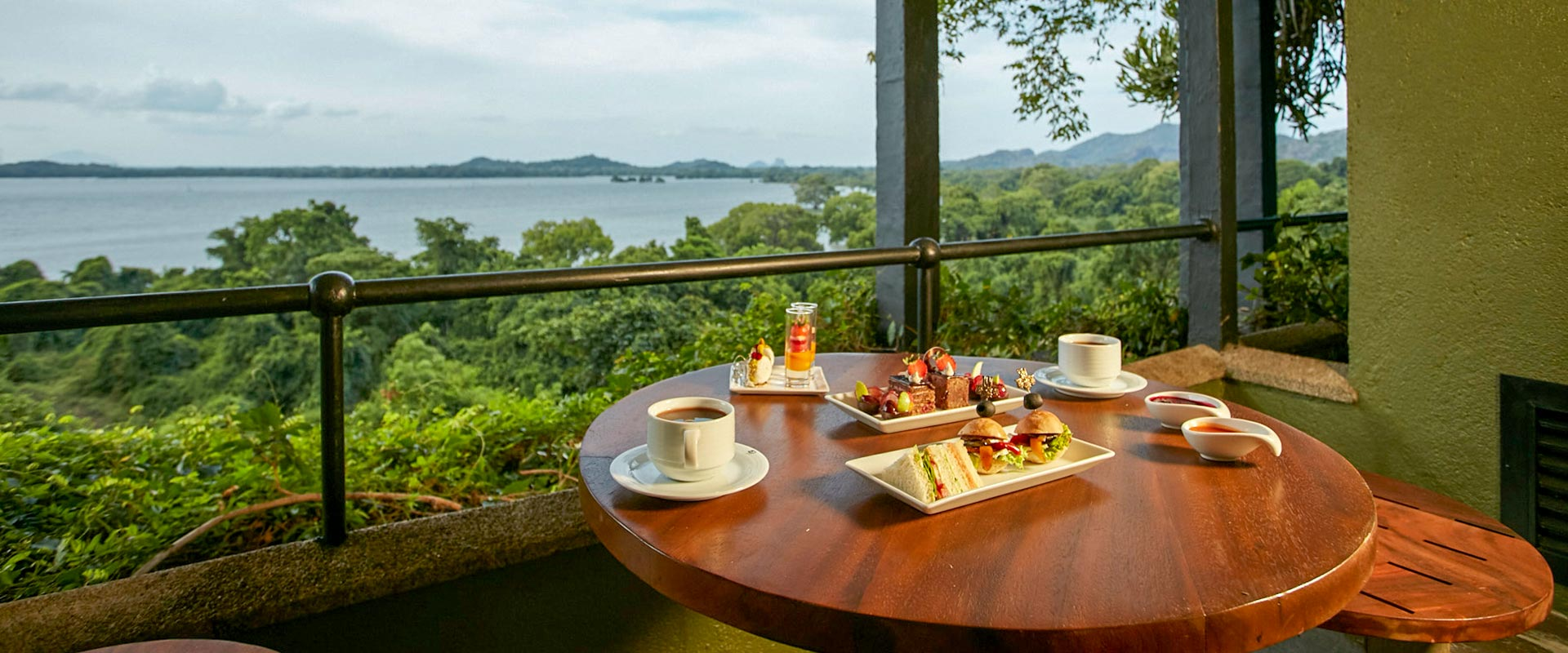 Deluxe Balcony view with snacks at Heritance Kandalama