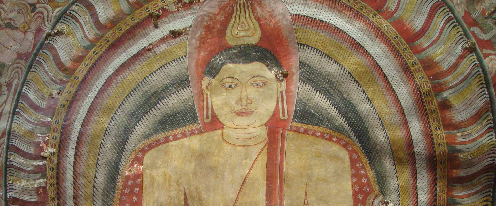 Buddha image at Dambulla Cave Temple