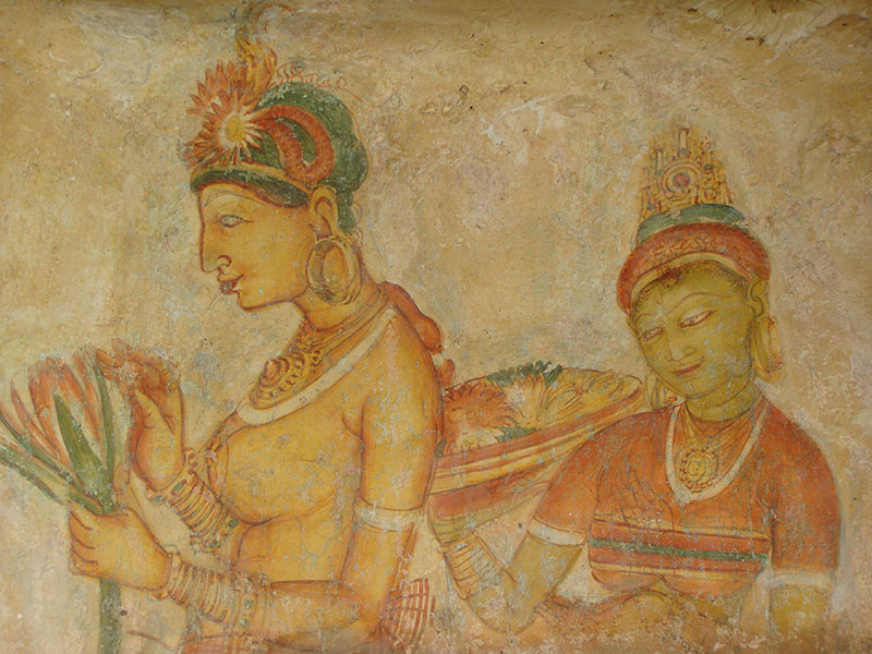 Famous Sigiriya Frescoes paintings