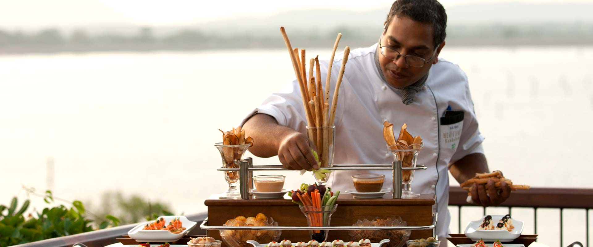 High tea preparations at Heritance Kandalama