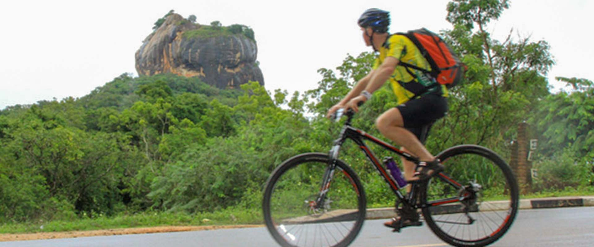 Foreigner Cycling near Heritance Kandalama