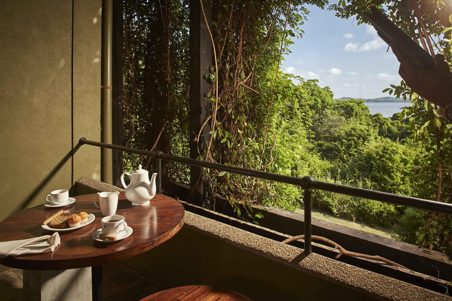 Luxury Balcony at Heritance Kandalama with a view