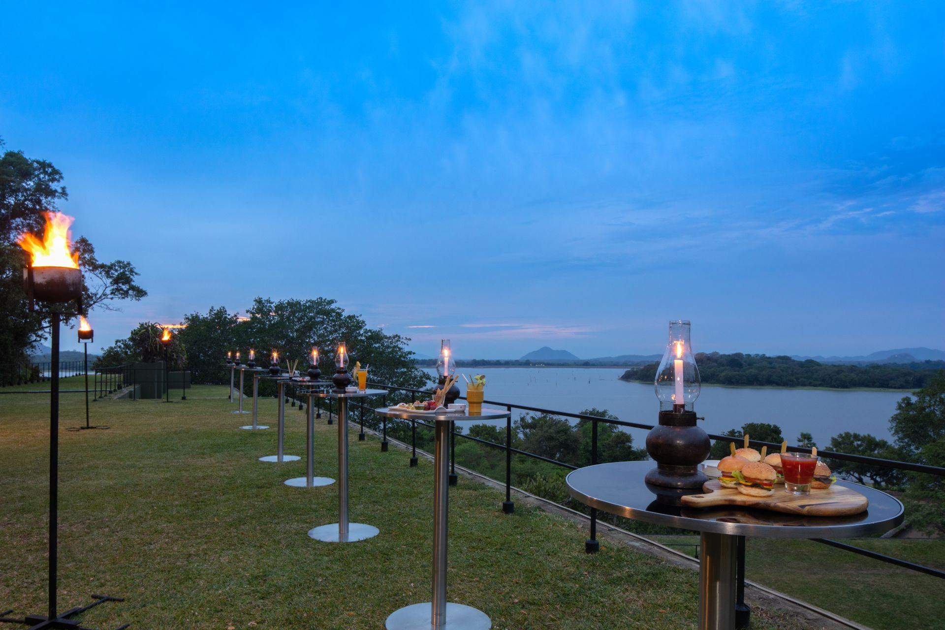 Heritance Kandalama Outdoor Dining with a view