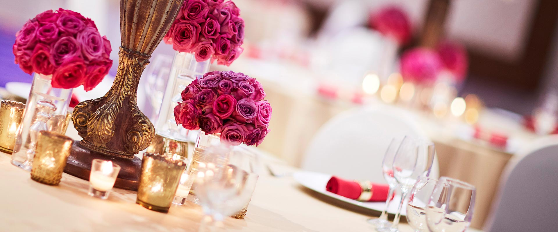 Table decorations for events at Heritance Negombo